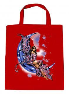 (U10899)Umweltfreundliche Baumwoll - Tasche , ca. 28 x 43 cm mit Aufdruck in 7 Farben rot