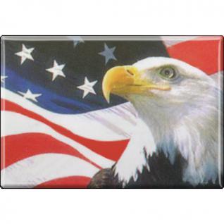(38952-1) Magnet - US-Banner Eagle - Gr. ca. 8 x 5, 5 cm - 38952 - Küchenmagnet