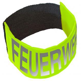 Armbinde mit Aufdruck - FEUERWEHR - 30733 neongelb