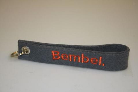 Filz-Schlüsselanhänger mit Stick - BEMBEL - Gr. ca. 17x3cm - 14027 - Keyholder