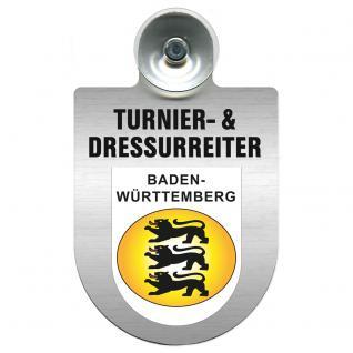 Einsatzschild Windschutzscheibe incl. Saugnapf - Turnier- und Dressurreiter im Einsatz - 309471-1 Region Baden-Württemberg