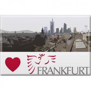 Kühlschrankmagnet - Skyline Frankfurt - Gr. ca. 8 x 5, 5 cm - 38735 - Küchenmagnet