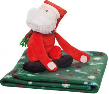 (75691) Kinder Fleecedecke ?Santa? 70 x 90 cm mit Kuschel- Santa