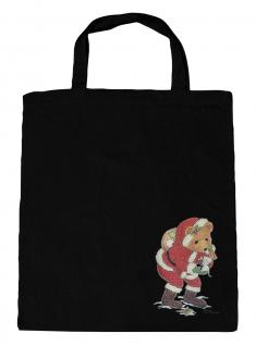 (08903/3-schwarz) Umweltfreundliche Baumwoll - Tasche , ca. 38 x 43 cm mit Aufdruck