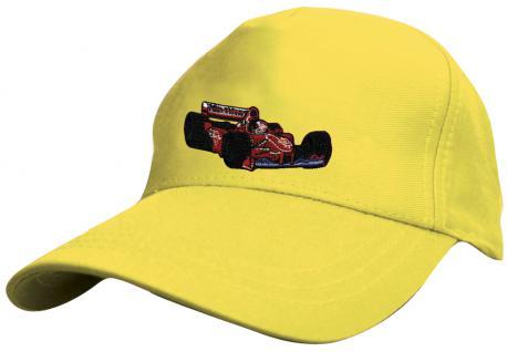 Kinder BaseCappy mit Rennauto-Bestickung - F1 Rennauto - 69126-2 gelb - Baumwollcap Baseballcap Hut Cap Schirmmütze