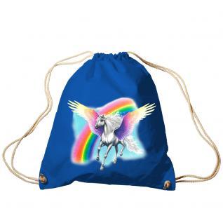 Trend-Bag Turnbeutel Sporttasche Rucksack mit Print - Pegasus - TB12663 Royal