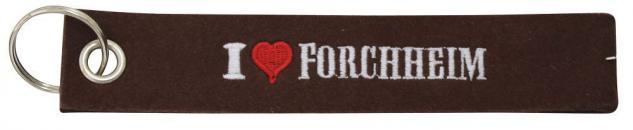 Filz-Schlüsselanhänger mit Stick I love Forchheim Gr. ca. 17x3cm 14193 rost