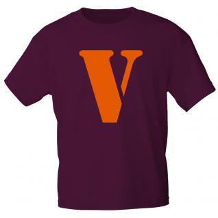 """Marken T-Shirt mit brillantem Aufdruck """" V"""" 85121-V M"""