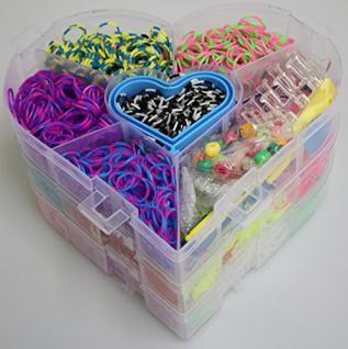 LOOM Bänder - Starterbox Herzbox 6.000 Teile Looms etc 23810