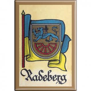 Küchenmagnet - Wappen Radeberg - Gr. ca. 8 x 5, 5 cm - 37542 - Magnet Kühlschrankmagnet