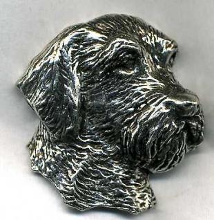 Anstecknadel - Metall - Pin - Schnauzer Hund - 02713