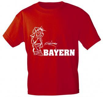T-Shirt mit Print - Pinkelmännchen Bayern - 09608 rot - Gr. S