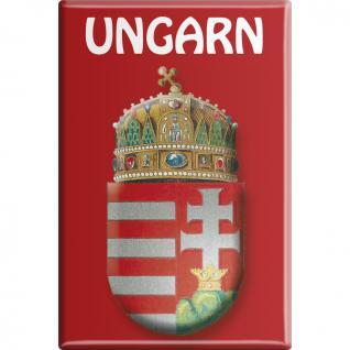Kühlschrankmagnet - Wappen UNGARN - Gr. ca. 8 x 5, 5 cm - 38115