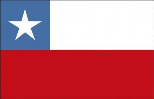 Auto-Fahne - Chile - Gr. ca. 40x30cm - 78036 - Länderflagge mit Klemmstab, Autoländerfahne