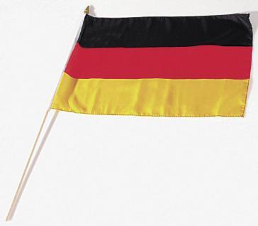 Stock-Länderfahne - DEUTSCHLAND - Gr. ca. 40 x 30 cm - 77040 - Schwenkfahne mit Holzstock - Dekofahne