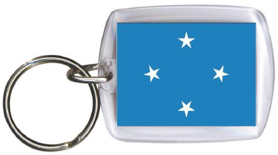 Schlüsselanhänger Anhänger - MIKRONESIEN - Gr. ca. 4x5cm - 81108 - Keyholder WM Länder