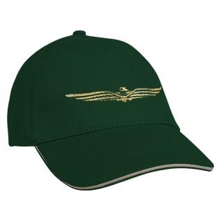 Baseballcap mit Einstickung Military Abzeichen 68219 grün