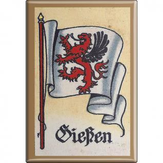 Küchenmagnet - Wappen Gießen - Gr. ca. 8 x 5, 5 cm - 37524 - Magnet Kühlschrankmagnet