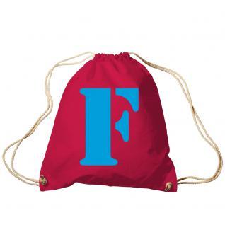 """Trend-Bag Turnbeutel Sporttasche Rucksack mit Print """" F"""" 65091-F"""
