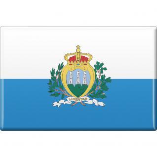 Kühlschrankmagnet - Länderflagge San Marino - Gr.ca. 8x5, 5 cm - 37813 - Magnet