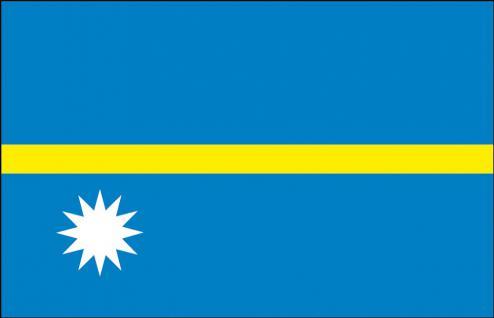 Länderflagge - Nauru - Gr. ca. 40x30cm - 77115 - Schwenkfahne mit Holzstock, Stockländerfahne