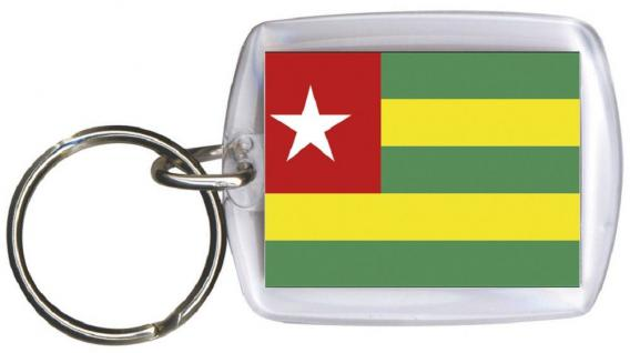 Schlüsselanhänger Anhänger - TOGO - Gr. ca. 4x5cm - 81168 - Keyholder WM Länder