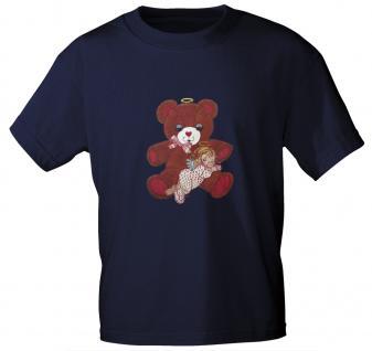 T-Shirt mit Print - Teddy Bär - 06948 - versch. Farben zur Wahl - Navy / M - Vorschau 1