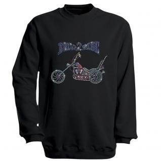 Sweatshirt mit Print - Bike - S12893 - schwarz - Gr. M