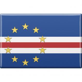 Kühlschrankmagnet - Länderflagge KapVerde - Gr.ca. 8x5, 5 cm - 38057 - Magnet