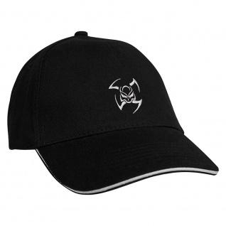 Baseballcap mit Einstickung Tribal 68106 schwarz