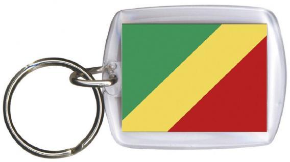 Schlüsselanhänger Anhänger - KONGO - Gr. ca. 4x5cm - 81085 - Keyholder WM Länder