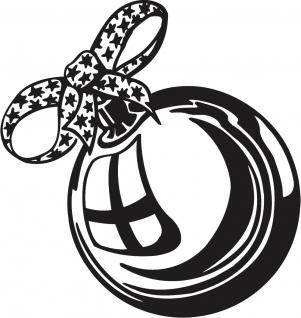 Wandtattoo Dekorfolie Weihnachtskugel WD0803 - schwarz / 175cm