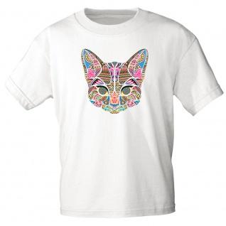 Kinder T-Shirt Print Katze Cat Mandala 12183 versch. Farben Gr. 110-164