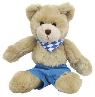 Plüsch - Teddybär mit Shirt - Oktoberfest mit Halstuch Raute - 27037