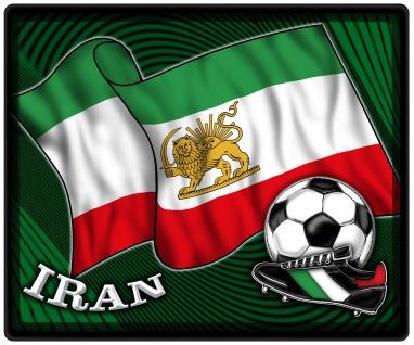 Mousepad Mauspad mit Motiv - Iran Fahne Fußball Fußballschuhe - 83067 - Gr. ca. 24 x 20 cm
