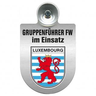 Einsatzschild Windschutzscheibe incl. Saugnapf - Gruppenführer Feuerwehr im Einsatz - 309750 Region Luxembourg