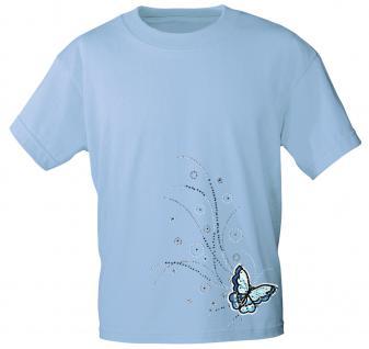 (12854) T- Shirt mit Glitzersteinen Gr. S - XXL in 17 Farben hellblau / XL