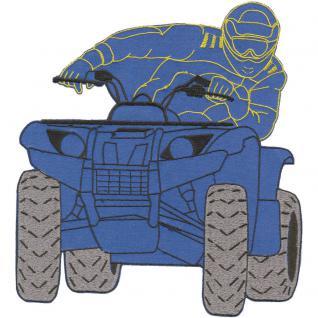 Rückenaufnäher - Quadfahrer - 88567 blau - Gr. ca. 23 x 25cm - Patches Stick Applikation