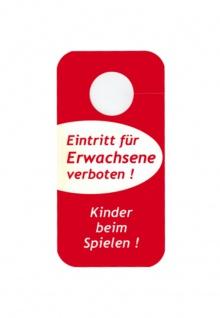 """Türschild Türhänger - """" Eintritt für Erwachsene verboten! - Kinder beim spielen!"""" & """" Zimmer aufräumen"""" - Gr. 20, 0 x 10, 0 cm - 307971"""