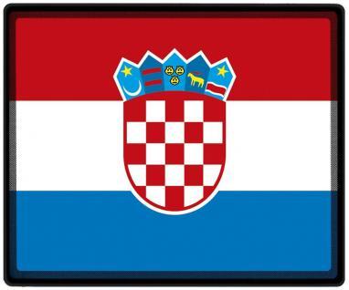 Kinder T-Shirt mit Print - Kroatien - 76087 - rot - Gr. 98/104