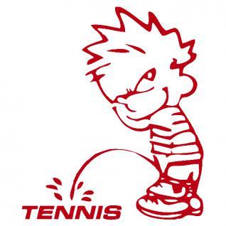 Pinkelmännchen-Applikations- Aufkleber - ca. 15 cm - Tennis - 303643 - rot