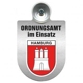 Einsatzschild Windschutzscheibe incl. Saugnapf - Ordnungsamt im Einsatz - 309400-15 Region Hamburg