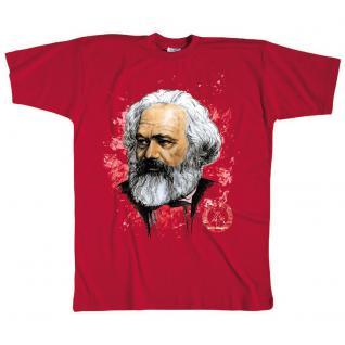 T-Shirt unisex mit Aufdruck - Karl Marx - 09538 - Gr. M