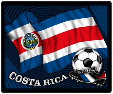 Mousepad Mauspad mit Motiv - Costa Rica Fahne Fußball Fußballschuhe - 83038 - Gr. ca. 24 x 20 cm
