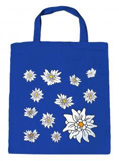 (08800-blau)) Umweltfreundliche Baumwoll - Tasche , ca. 28 x 43 cm mit Aufdruck