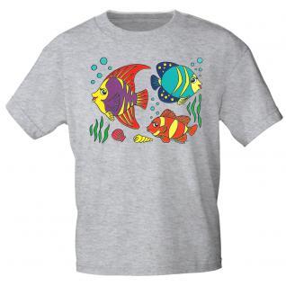 Kinder Marken-T-Shirt mit Motivdruck in 12 Farben Fische K12779