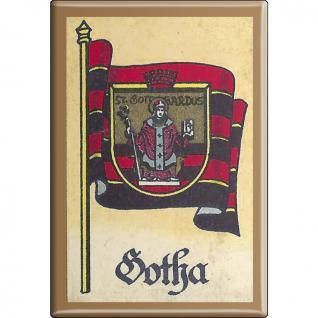 Küchenmagnet - Wappen Gotha - Gr. ca. 8 x 5, 5 cm - 37527 - Magnet Kühlschrankmagnet