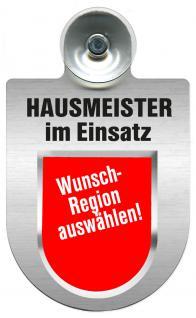 Einsatzschild für Windschutzscheibe incl. Saugnapf - Hausmeister im Einsatz - 309393