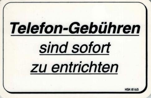 Spass- Schild -Telefongebühren... - Gr. 15x10 cm - 308163