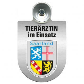 Einsatzschild für Windschutzscheibe incl. Saugnapf - Tierärztin im Einsatz - 309474-10 - Region Saarland